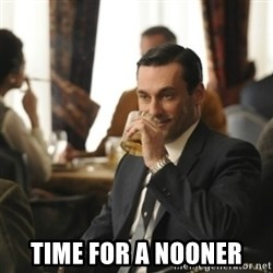 don draper drinking -  time for a nooner