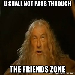 Gandalf You Shall Not Pass - U shall not pass through the friends zone