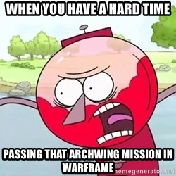 annoying benson  - when you have a hard time passing that archwing mission in warframe