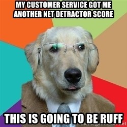 Business Dog - My Customer service got me another net detractor score This is going to be ruff