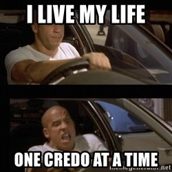 Vin Diesel Car - I live my life One Credo at a time