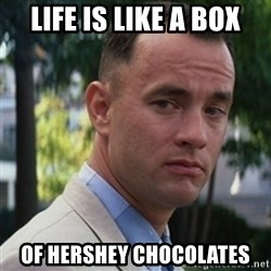 forrest gump - Life is like a box of hershey chocolates