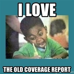 I love coloring kid - i love  the old coverage report