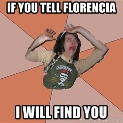 Scared Bekett - If you tell florencia  I will find you