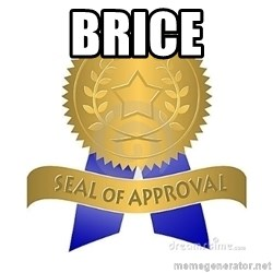 official seal of approval - Brice