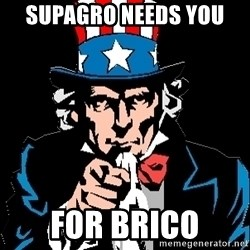 I Want You - Supagro needs you  for brico