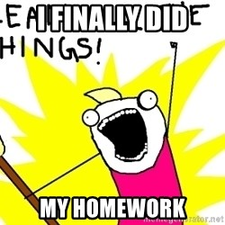 clean all the things - i finally did my homework