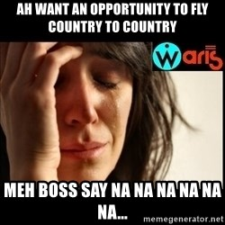 Mehbooba - Ah want an opportunity to fly country to country Meh boss say na na na na na na...
