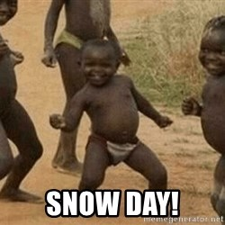 Success African Kid -  SNOW DAY!