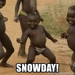 Success African Kid -  SNOWDAY!