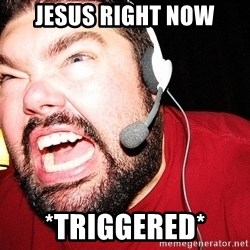 Angry Gamer - jesus right now *triggered*