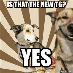 Stoner dogs concerned friend - Is that the new t6? Yes