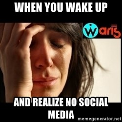 Mehbooba - When you wake up And realize no social media