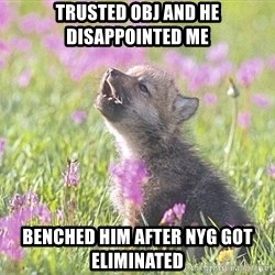 Baby Insanity Wolf - TRUSTED OBJ AND HE DISAPPOINTED ME BENCHED HIM AFTER NYG got eliminated