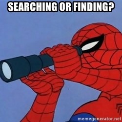 Spiderman Lunar Eclipse - Searching or Finding?