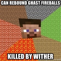 Minecraft Guy - Can rebound ghast fireballs Killed by wither