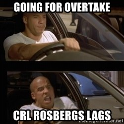 Vin Diesel Car - Going for overtake CRL Rosbergs lags