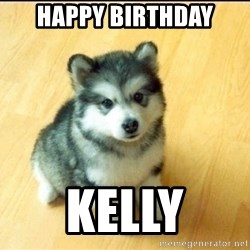 Baby Courage Wolf - Happy Birthday Kelly