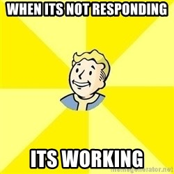 Fallout 3 - When its not responding Its working