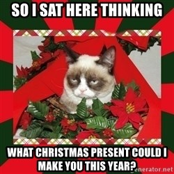 GRUMPY CAT ON CHRISTMAS - so i sat here thinking what christmas present could I make you this year?