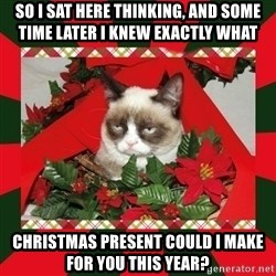 GRUMPY CAT ON CHRISTMAS - so I sat here thinking, and some time later i knew exactly what christmas present could I make for you this year?