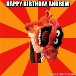 Animal Muppet - Happy Birthday Andrew