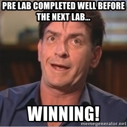 Sheen Derp - Pre Lab completed well before the next lab... Winning!