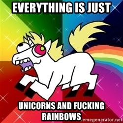 Lovely Derpy RP Unicorn - Everything is just Unicorns and fucking rainbows