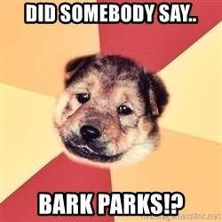 Typical Puppy - Did somebody say.. BARK PARKS!?