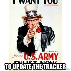 I Want You -  to update the tracker