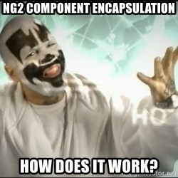 Insane Clown Posse - ng2 component encapsulation how does it work?