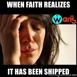 Mehbooba - When Faith realizes  It has been shipped