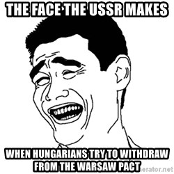 Asian Troll Face - the face the ussr makes  when hungarians try to withdraw from the warsaw pact