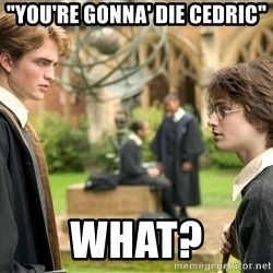 "Harry Potter  - ""You're gonna' die cedric"" What?"