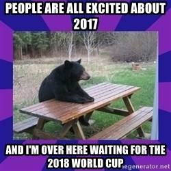 waiting bear - People are all excited about 2017 And I'm over here waiting for the 2018 World Cup