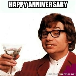 Austin Powers Drink - Happy Anniversary