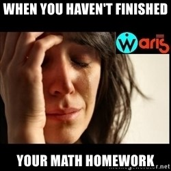 Mehbooba - when you haven't finished your math homework