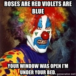 Insanity Clown - Roses are red violets are blue your window was open i'm under your bed.