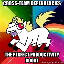 Lovely Derpy RP Unicorn - cross-team dependencies the perfect productivity boost