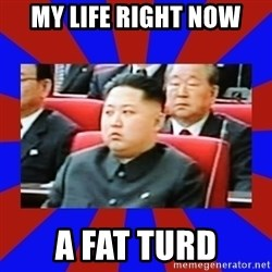 kim jong un - my life right now a fat turd