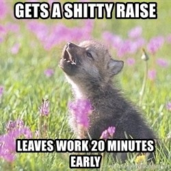 Baby Insanity Wolf - Gets a shitty raise Leaves work 20 minutes early
