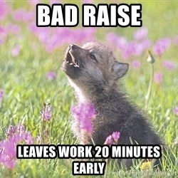 Baby Insanity Wolf - Bad raise Leaves work 20 minutes early