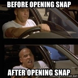 Vin Diesel Car - Before opening snap  After opening snap