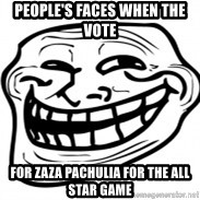 Troll Face in RUSSIA! - People's faces when the vote for Zaza pachulia for the all star game