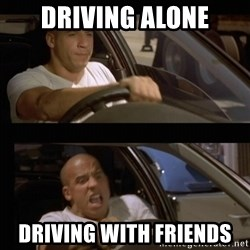 Vin Diesel Car - Driving alone driving with friends