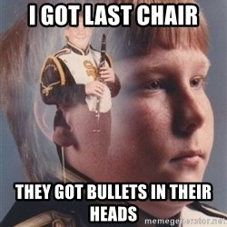 PTSD Clarinet Boy - i got last chair they got bullets in their heads