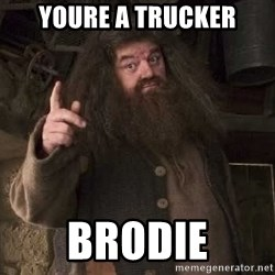 Hagrid - youre a trucker brodie