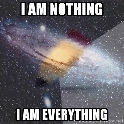 Advice Edit Button - i am nothing i am everything