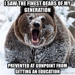 Clean Cocaine Bear - I saw the finest bears of my generation prevented at gunpoint from getting an education