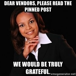 Irrational Black Woman - dear vendors, please read the pinned post we would be truly grateful.
